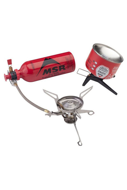 MSR WhisperLite Gasbrander Combinatie