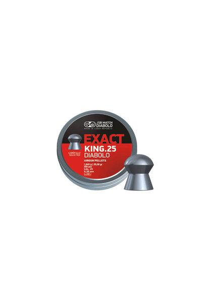 JSB Diabolo Exact King 6,35 mm/.25 cal 1,645 gr. 350 stuks