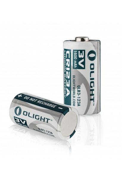 Olight CR123A Lithium Batterij 3V 1600 mAh