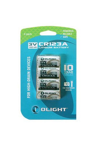 Olight CR123A Lithium Batterij 3V 1600 mAh 4st