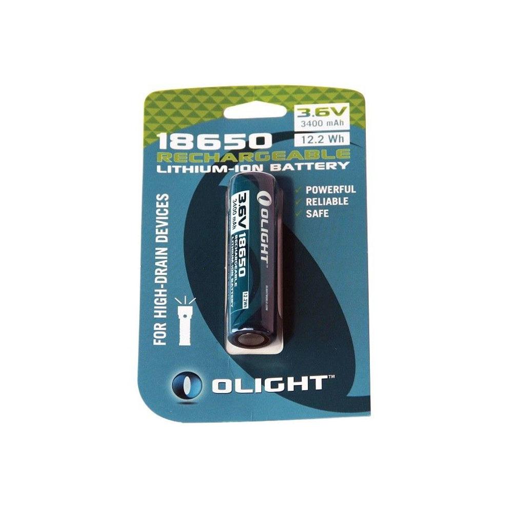 Olight 18650 Oplaadbare Lithium-Ion Batterij 3.6V 3400 mAh-1