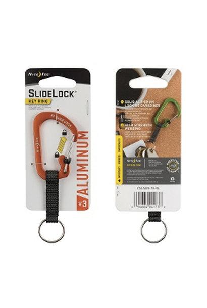 Nite Ize Carabiner #3 Slidelock Keyring Aluminium Limoen
