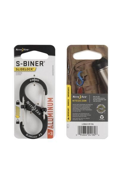 Nite Ize S-Biner #3 Slidelock RVS Zwart
