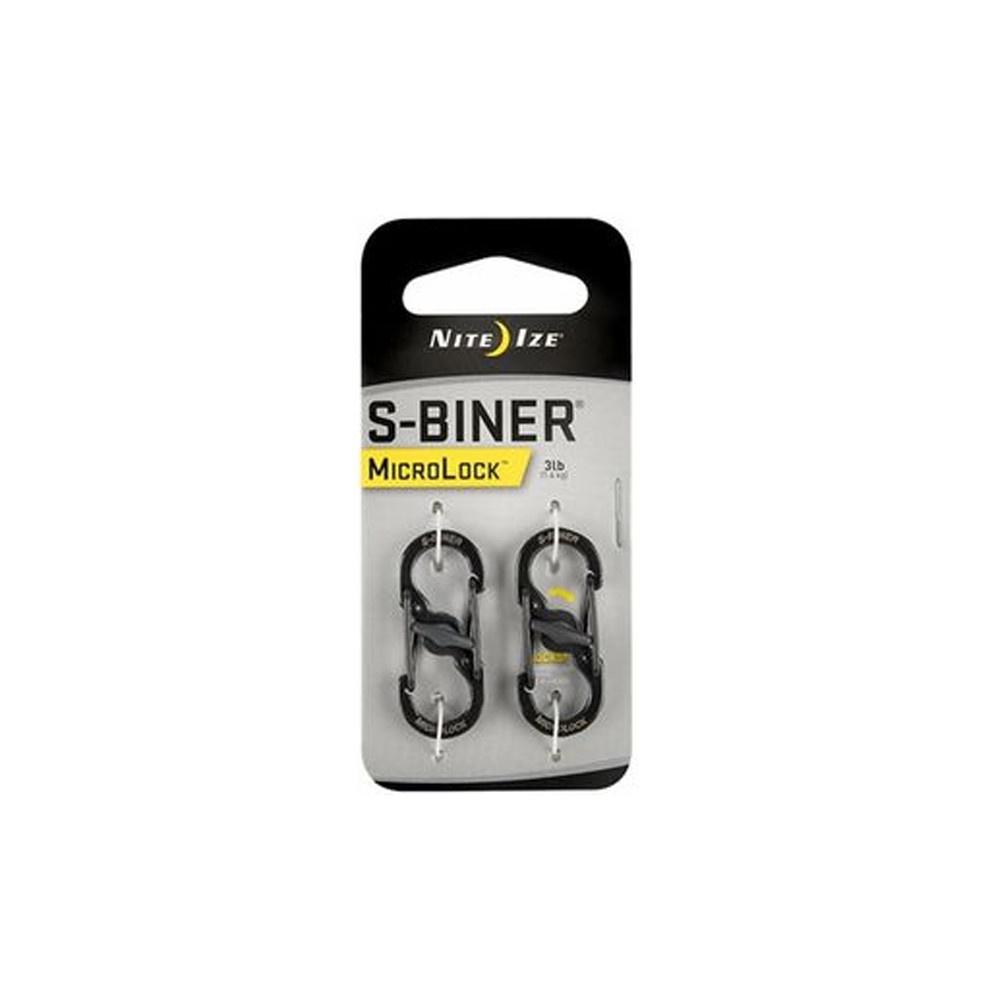 Nite Ize S-Biner Microlock RVS Zwart-1