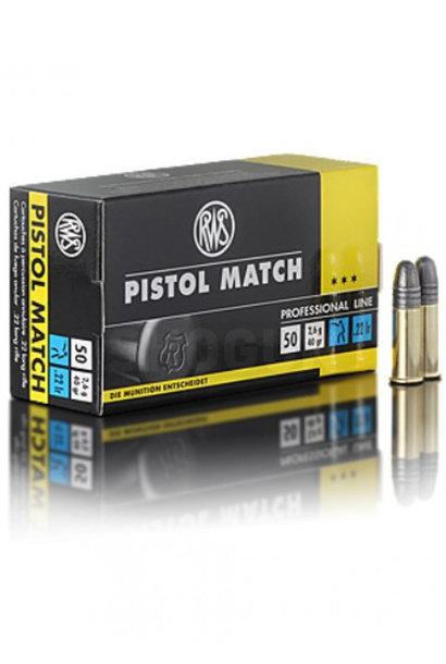 RWS Pistol Match .22 LR (50st/box)
