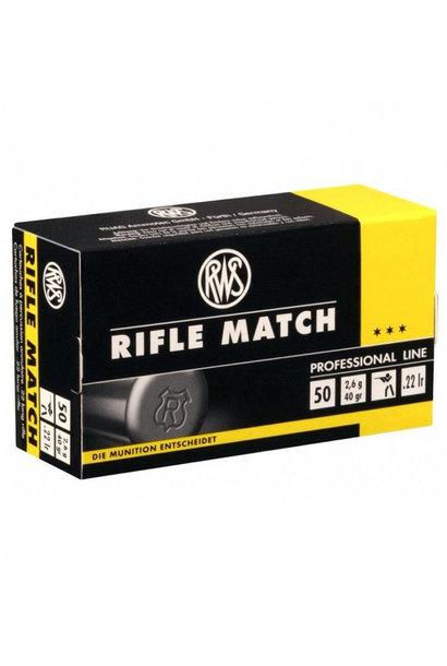 RWS Rifle Match .22 LR (50st/box)
