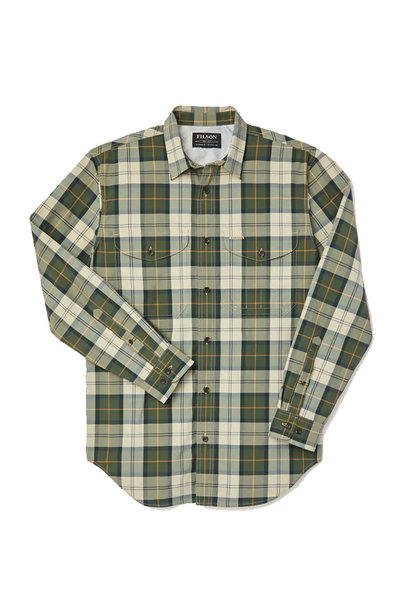 Filson Twin Lakes Sport Shirt - Tan/Olive/Gold