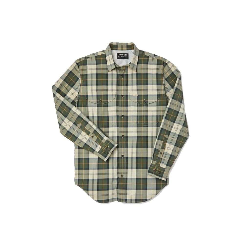 Filson Twin Lakes Sport Shirt - Tan/Olive/Gold Maat 3XL-1