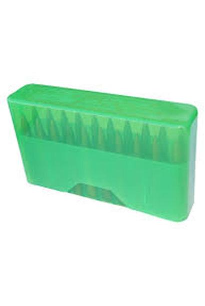 MTM Case Gard Slip-Top Ammo Box 20 Round 22-250 243 Win 7.62x39 Clear Green