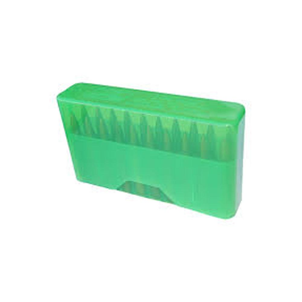 MTM Case Gard Slip-Top Ammo Box 20 Round 22-250 243 Win 7.62x39 Clr-Green-1