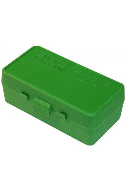 MTM Case Gard Ammo Box 50 Round Flip-Top 41 44 45 LC Green