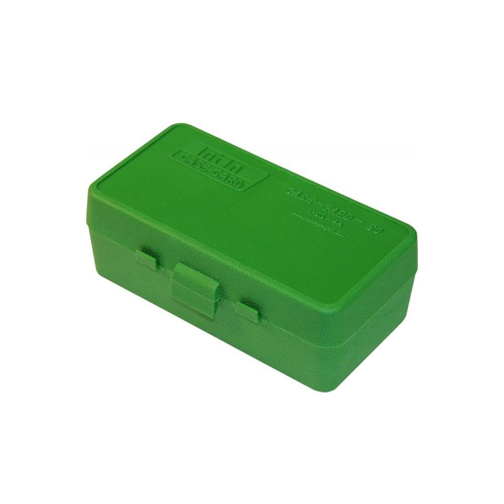 MTM Case Gard Ammo Box 50 Round Flip-Top 41 44 45 LC Green-1