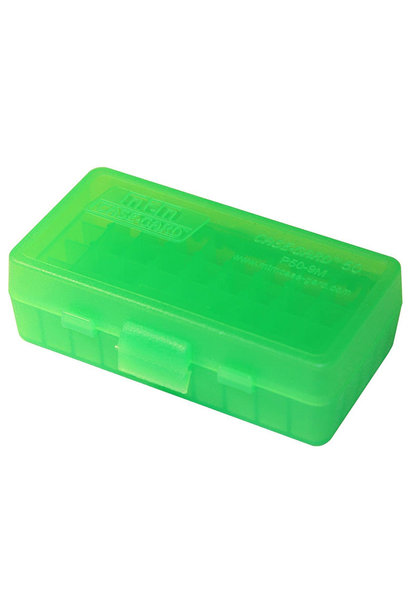 MTM Case Gard Ammo Box 50 Round Flip-Top 9mm 380 ACP Green