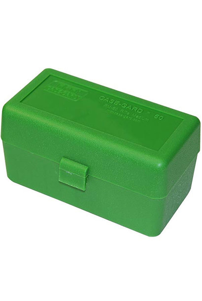 MTM Case Gard Ammo Box 50 Round Flip-Top 243 308 Win 220 Swift Green