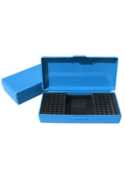 MTM Case Gard Ammo Box 100 Round .22 Long Rifle Rimfire Competition Blue