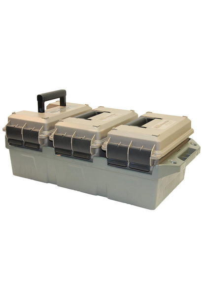 MTM Case Gard 3-Can Ammo Crate 50 Kal Dark Earth