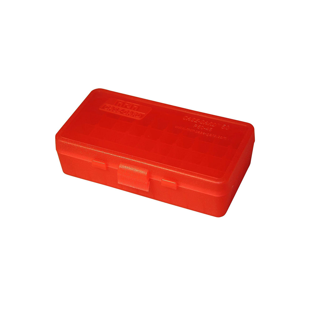MTM Case Guard Ammo Box 50 Round Flip-Top .45 ACP, .40 S&W, 10 mm, .357 Sig-1