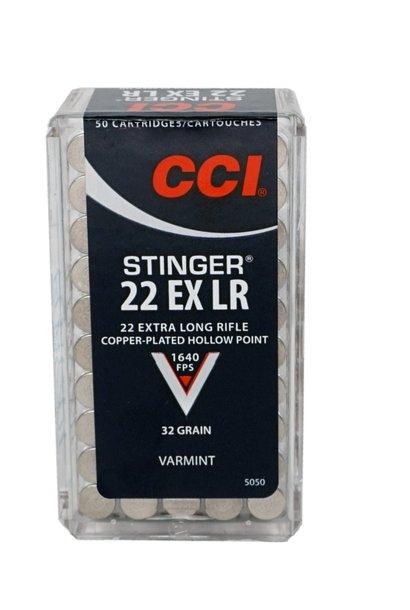 CCI  Stinger 32Gr. HP .22 EX LR