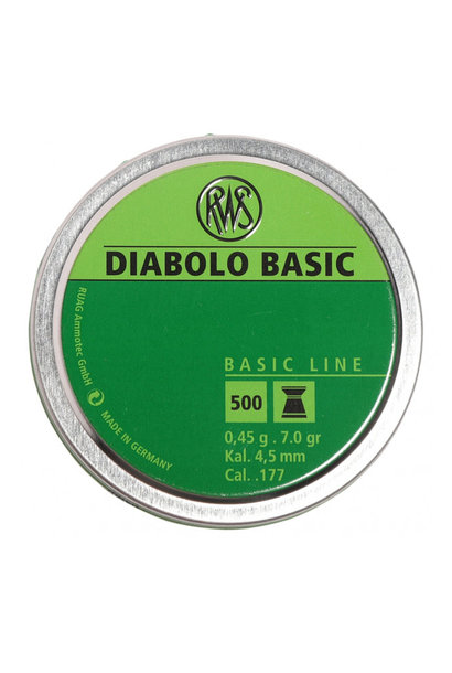 RWS Diabolo Basic 4,5mm/.177Kal 0,45g