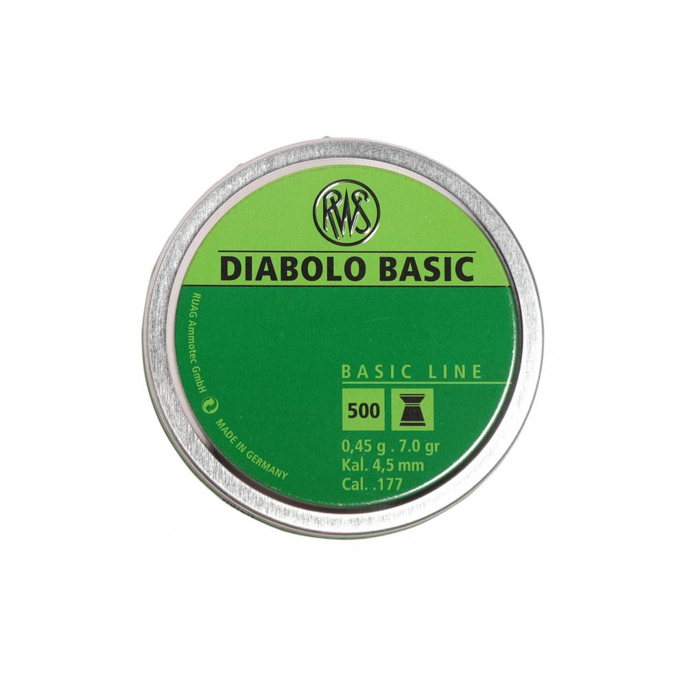 RWS Diabolo Basic 4,5mm/.177Kal 0,45g-1