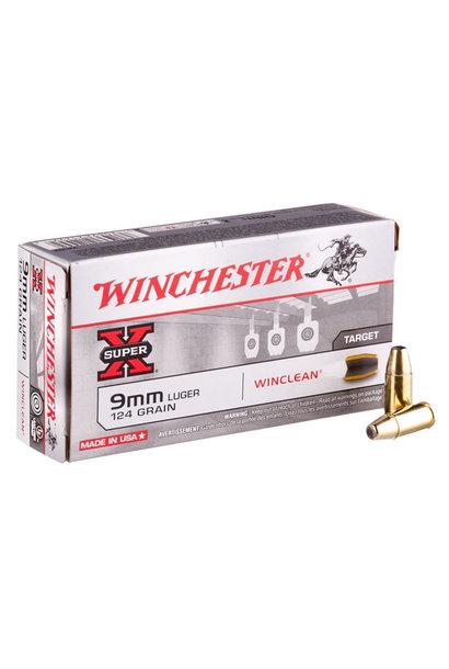 Winchester Super X 9 mm Luger 124 gr FMJ 500 Round Bulk Box