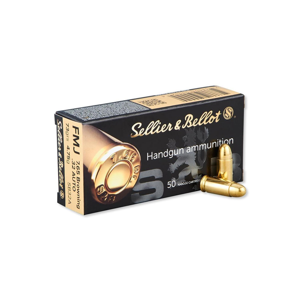 Sellier & Bellot FMJ 73gr.  7,65 mm Browning /. 32 Auto-1