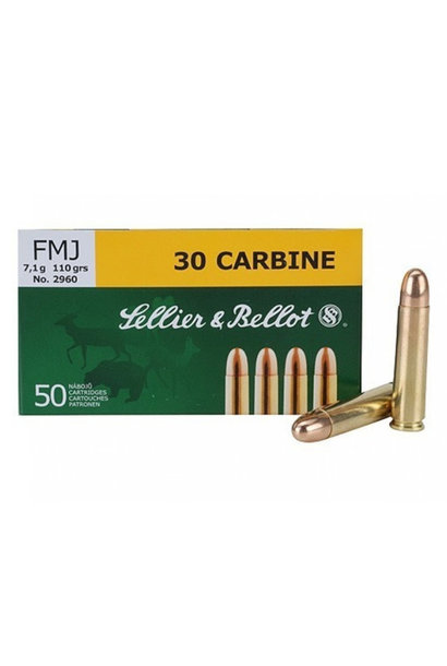 Sellier & Bellot FMJ 110gr. 30 Carbine