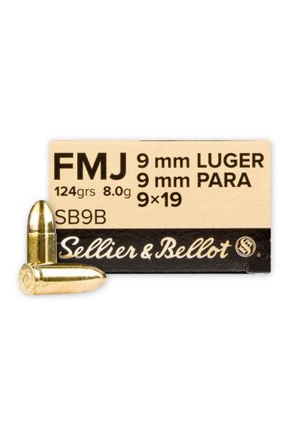 Sellier & Bellot FMJ 124gr. 9x19 mm