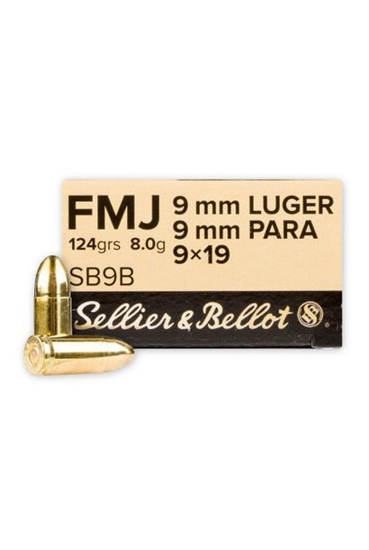 Sellier & Bellot FMJ 124gr. 9x19 mm