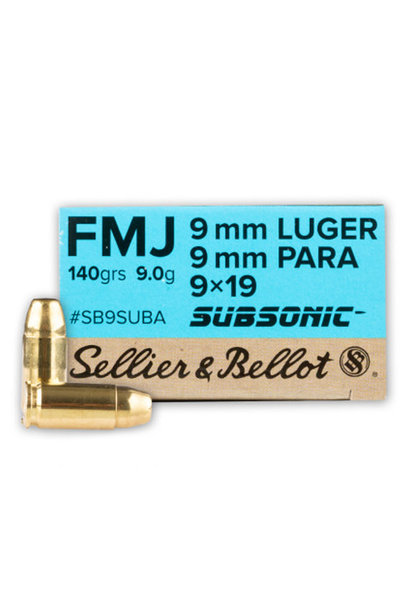 Sellier & Bellot FMJ 140gr. Subsonic 9x19 mm