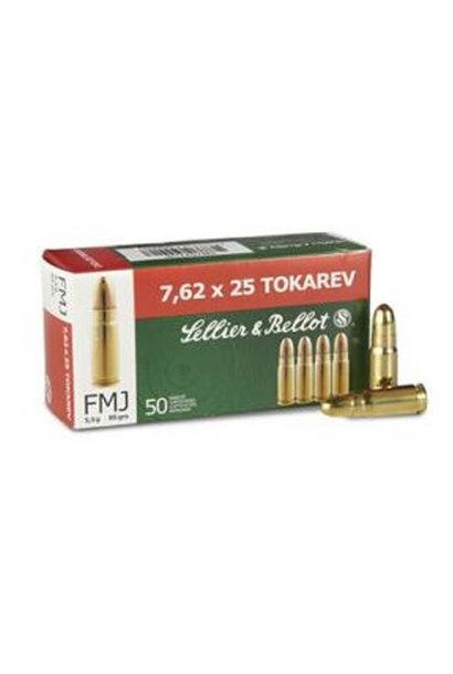 Sellier & Bellot FMJ 85 gr. 7,62x25 Tokarev