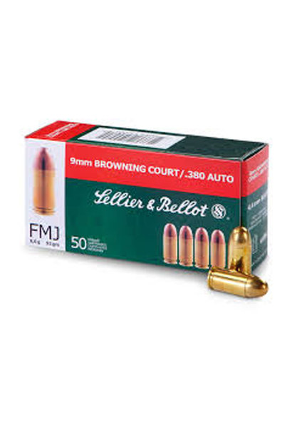 Sellier & Bellot FMJ 92gr. 9x17 mm / .380 Auto