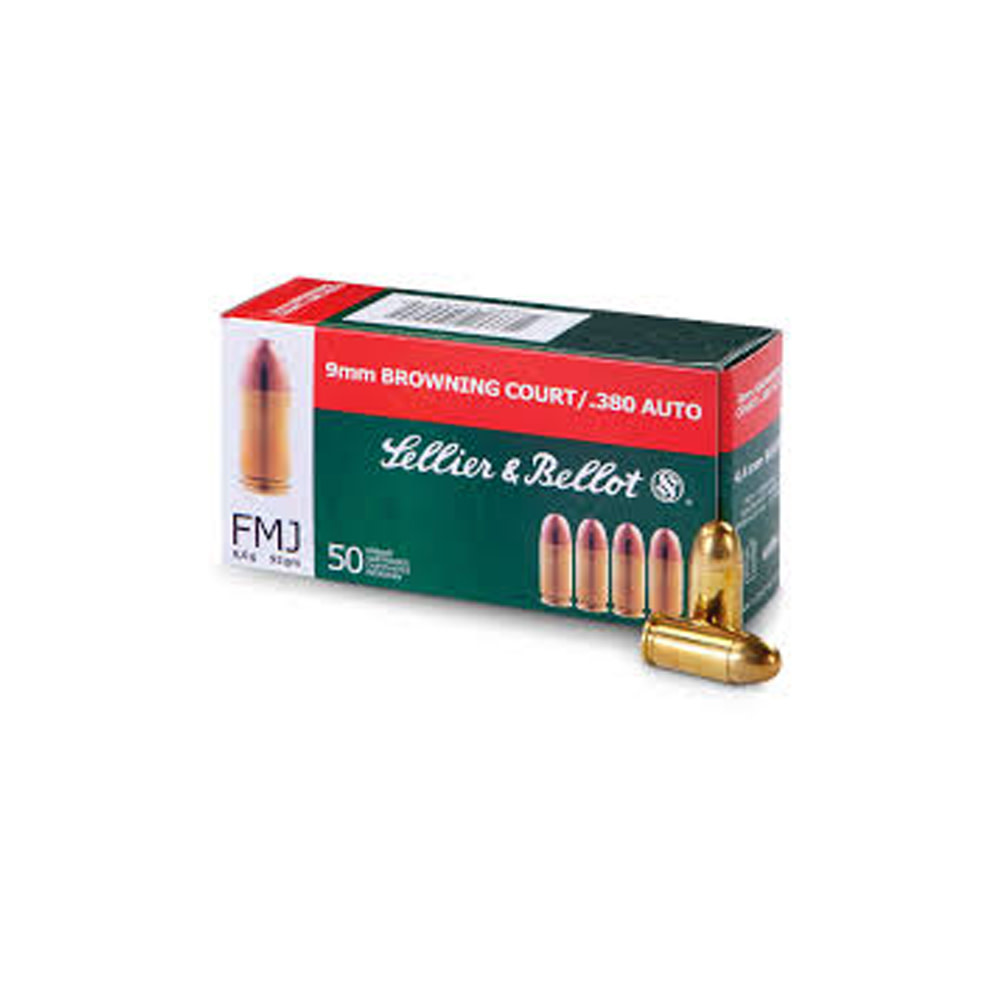 Sellier & Bellot FMJ 92gr. 9x17 mm / .380 Auto-1
