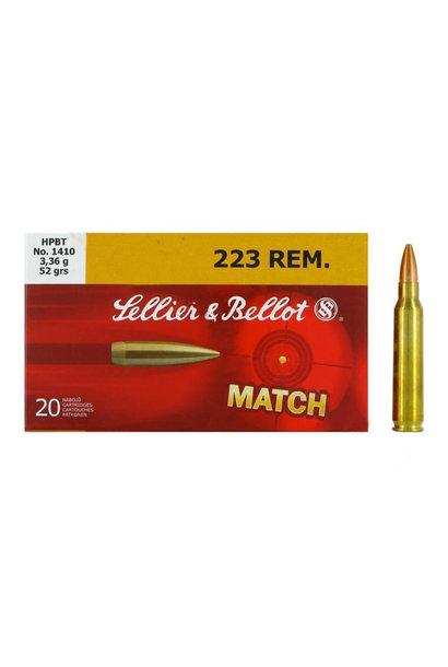 Sellier & Bellot HPBT 52gr. .223 REM
