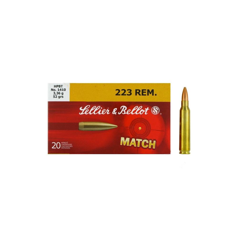 Sellier & Bellot HPBT 52gr. .223 REM-1