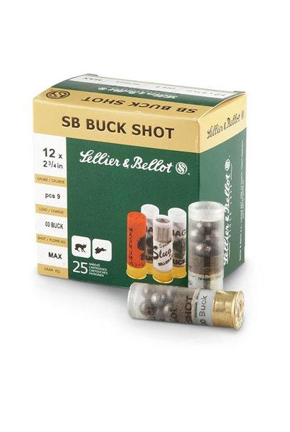 Sellier & Bellot Buck Shot Magnum 32gr. 7.62mm (12) 12/70