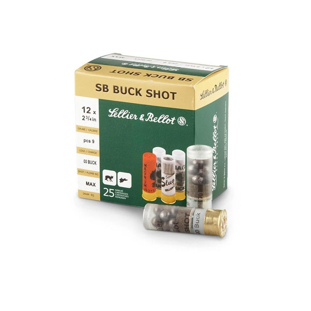 Sellier & Bellot Buck Shot Magnum 32gr. 7.62mm (12) 12/70-1