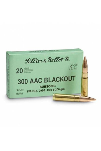 Sellier & Bellot .300 AAC BLK 200gr Subsonic