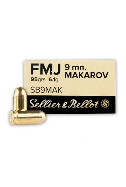 Sellier & Bellot FMJ 95gr. 9mm Makarov