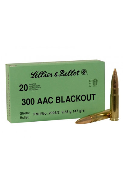 Sellier & Bellot .300 AAC BLK 147gr FMJ