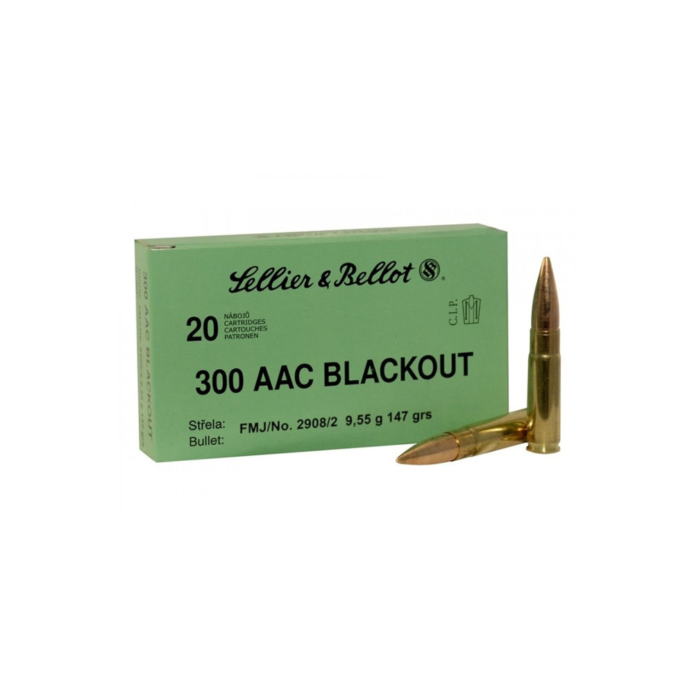 Sellier & Bellot .300 AAC BLK 147gr FMJ-1