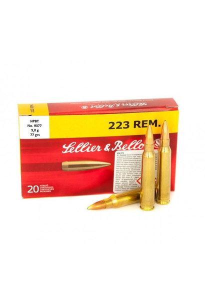 Sellier & Bellot HPBT 77gr. .223 REM
