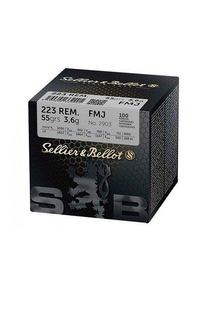 Sellier & Bellot FMJ 55gr. .223 REM