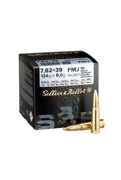 Sellier & Bellot FMJ 124grs 7,62x39mm