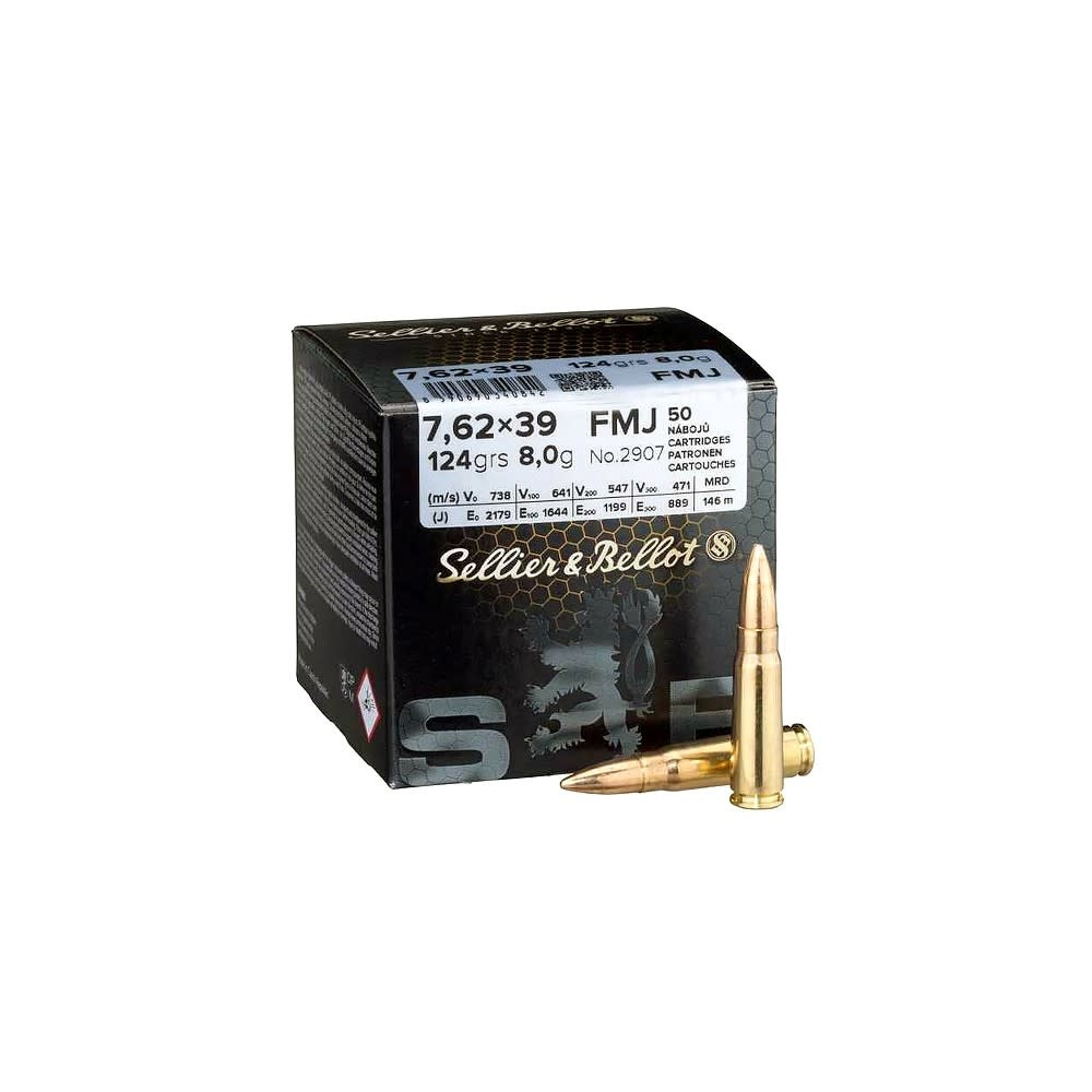 Sellier & Bellot FMJ 124grs 7,62x39mm-1