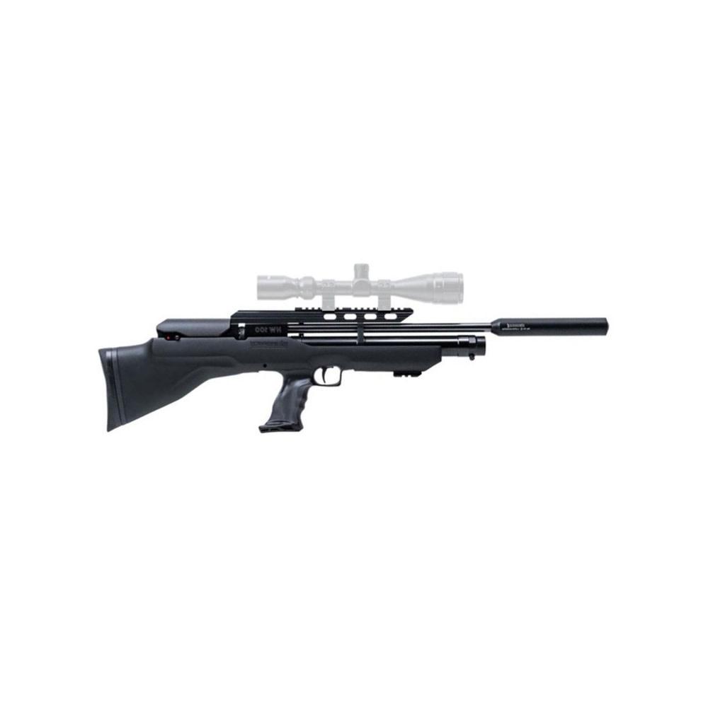 Weihrauch HW 100 Bullpup (310mm) .22Kal/5.5mm - Incl. Demper-1
