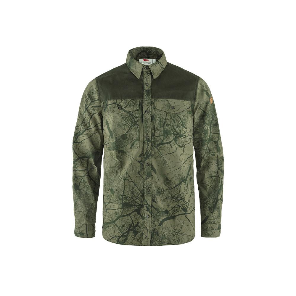 Fjällräven Värmland G-1000 Shirt M Green Camo/Deep Forest-1