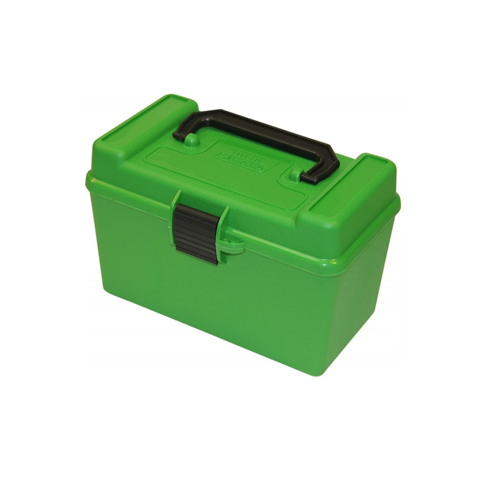 MTM Case-Gard Ammo Case Deluxe - 50 Round Handle Green 22-250 / 243 / 308-1