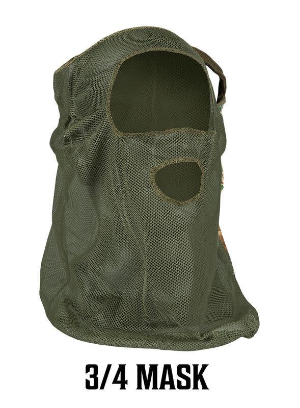 Primos 3/4 Ninja Masker Od Green Mesh-1
