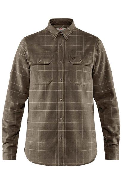 Fjällräven Singi Heavy Flanellen Shirt Dark Olive Maat S